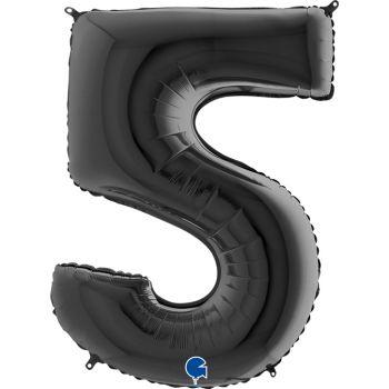 Pallone mylar nero 100 cm numero 3