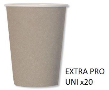 20 Bicchieri compostabili tortora 250 cc