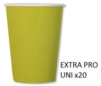 20 Bicchieri compostabili verde lime 250 cc