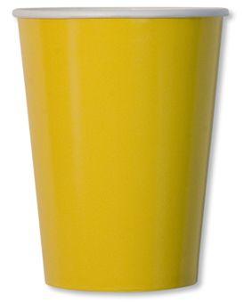 8 Piatti grandi compostabili gialli 27 cm