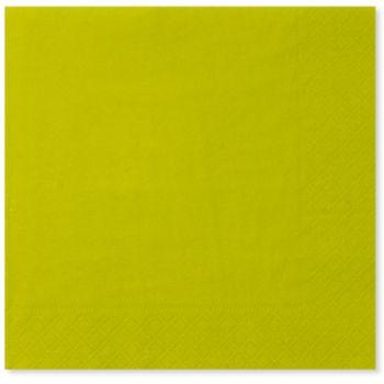 20 Tovaglioli verde lime 33 x 33 cm