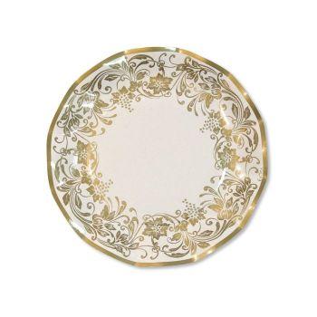 10 Piatti grandi noblesse oro 27 cm