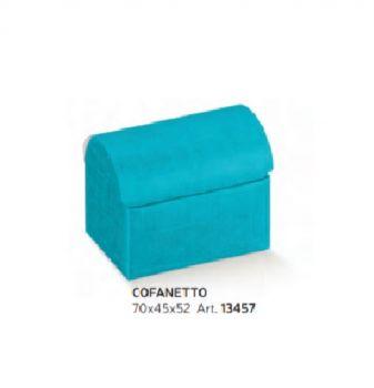 Scatola Cofanetto Seta Bluette 70 x 45 x 52 mm