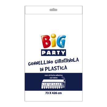 Gonnellino Girotavola in Plastica Bianco