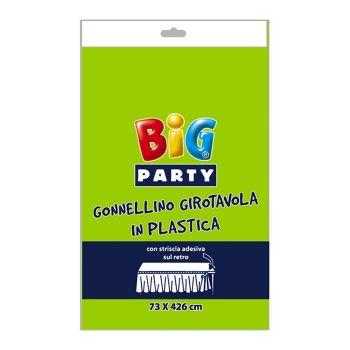 Gonnellino Girotavola in Plastica 73 x 423 cm Verde Acido