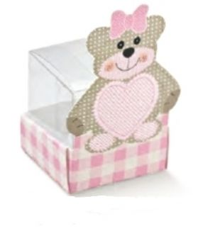 Scatola Cestello Ted Bear Rosa