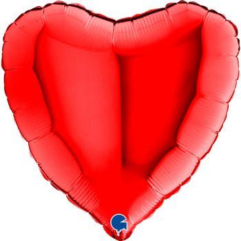 Pallone a forma di cuore 46 cm rosso
