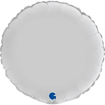 Pallone tondo 46 cm bianco satinato