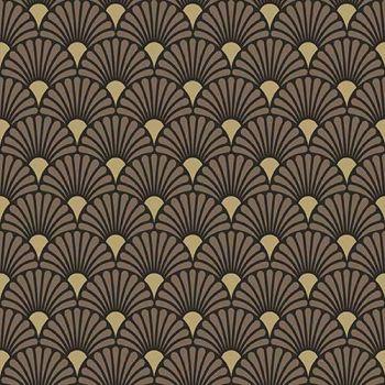 20 Tovaglioli Ambiente 33 x 33 Art Deco Black / Gold