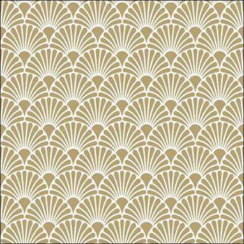 20 Tovaglioli Ambiente 33 x 33 Art Deco Gold / White