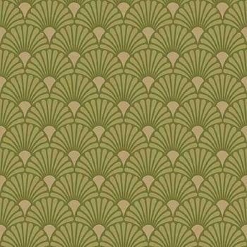 20 Tovaglioli Ambiente 33 x 33 Art Deco Lime / Gold