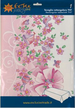 Tovaglia tnt 140 x 240 Battesimo rosa