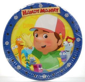 Piatto Grande Handy Manny 23 cm - 10 pz