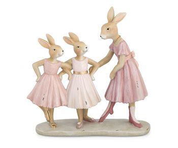 3 Conigliette altezza 22.5 cm