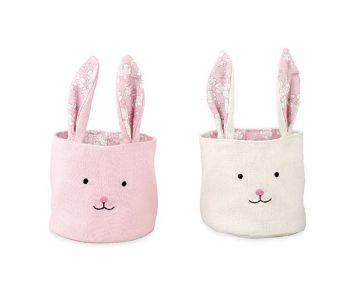 Cestino coniglio rosa o bianco 10 x 10 cm