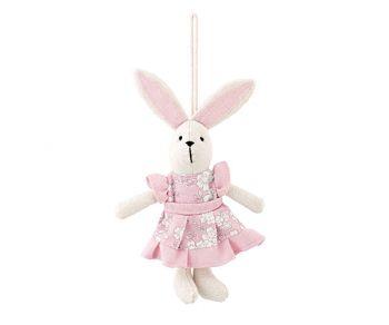 Coniglietta vestito rosa 20 cm