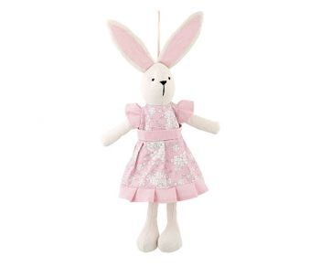 Coniglietta vestito rosa 42 cm