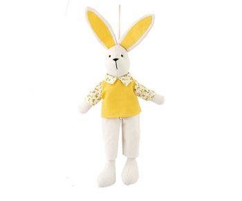 Coniglietto con gilet giallo 42 cm
