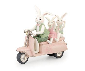 Conigli in moto 21 x 7 x 19 cm
