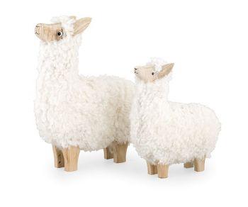 Kit 2 lama lana bianca
