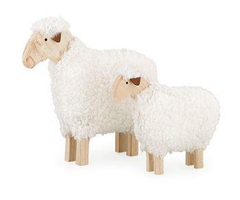 Kit 2 pecore lana bianca