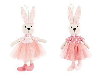 Coniglietta rosa da appendere 30 cm