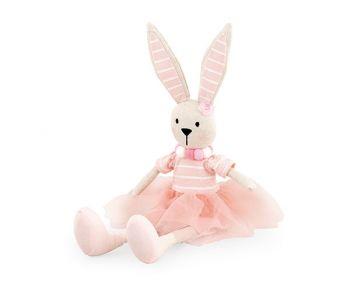 Coniglietta rosa seduta 45 cm