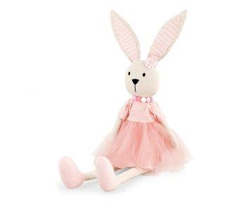 Coniglietta rosa seduta 75 cm
