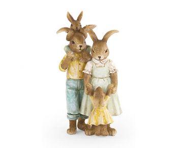 Coppia conigli con 2 coniglietti
