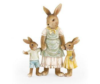 Mamma coniglio con 2 coniglietti