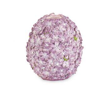 Portacandela uovo lilla 10 x 11 cm