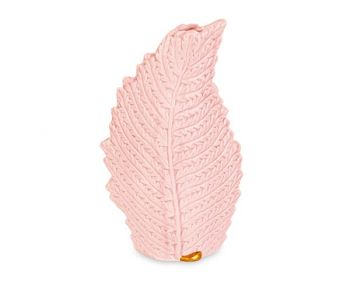 Vaso a forma foglia rosa 125 x 215 mm