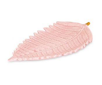 Vassoio a forma di foglia rosa 270 x 140 mm