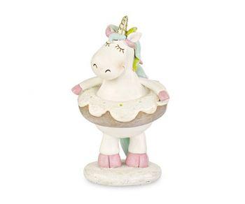 Unicorno bianco con donut 10 x 16.5 cm