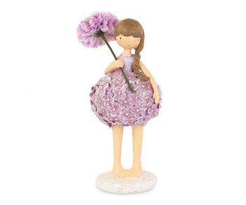 Bambina con vestito rosa con fiori 190 mm