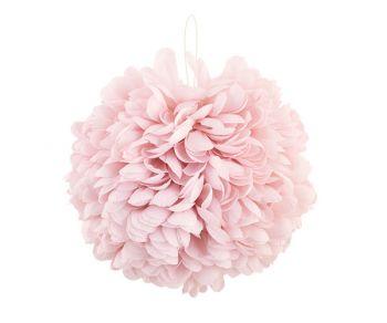 Sfera Petali Tessuro Rosa Grande 1 pz