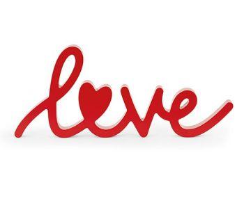 """Scritta """"Love"""" rosso 35.5 x 15 cm"""