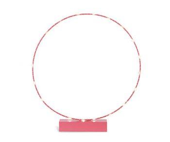 Cerchio rosa su base con led 45 x 50.5 cm