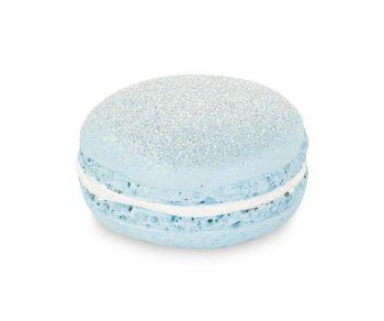 Macaron glitter azzurro con magnete 40 mm