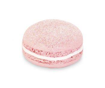 Macaron glitter rosa con magnete 40 mm