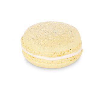 Macaron glitter giallo con magnete 40 mm