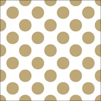Tovaglioli Ambiente 33 x 33 Big dots gold