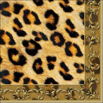 Tovaglioli Ambiente 33 x 33 Leopard ornament