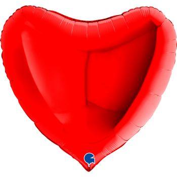 Pallone a forma di cuore 91 cm rosso