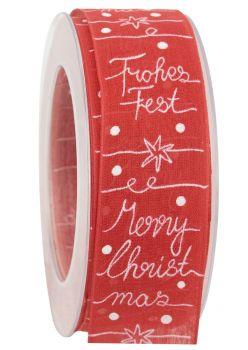 """Nastro Da Vinci """" Buone vacanze natalizie """" 40 mm rosso"""