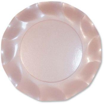 10 Piatti grandi rosa perlato 27 cm