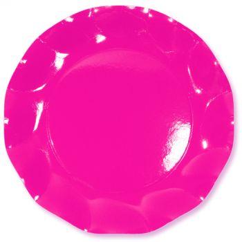 10 Piatti piccoli rosa 21 cm