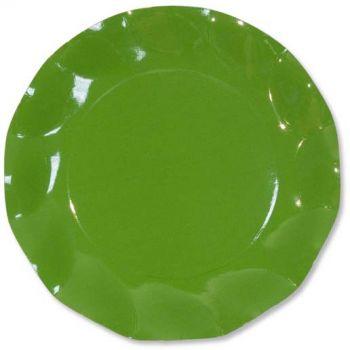 10 Piatti piccoli verde prato 21 cm