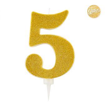 Candelina Glitter Oro N 5