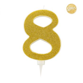 Candelina Glitter Oro N 8